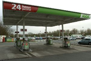 The petrol station at Asda in Ovangle Road.