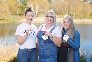Alice Waddington, from Leyland, Wigan woman Eve Hesketh and Emily Kavanagh,