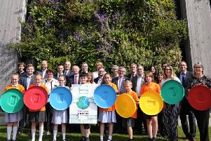 Pupils and councillors come together to tackle climate change.