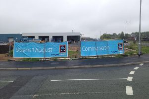 Signs went up today revealing the opening date of the new Aldi in Olivers Place,Fulwood