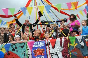 Ambergate Primary School channeled the Greatest Showman for their float.