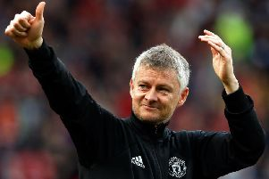 THUMBS UP: For Leeds United from Manchester United boss Ole Gunnar Solskjaer.