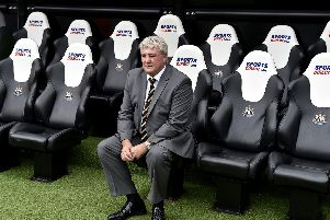 Newcastle United head coach Steve Bruce, pictured at St James' Park.
