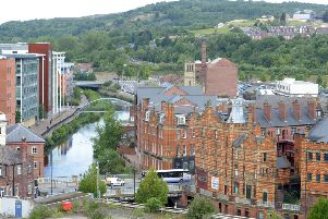 Sheffield Stock pic taken from roof of Wilkos Castle House Former Hospital
