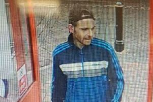 Police would like to speak to the man pictured in connection with the incident