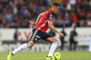 Ravel Morrison drives the ball during the 5th round match between Atlas and Cruz Azul as part of the Torneo Clausura 2018 Liga MX at Jalisco Stadium on February 2, 2018 in Guadalajara, Mexico. (Pic: Getty)