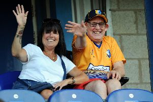 Stags fans at the Forest U23s friendly.