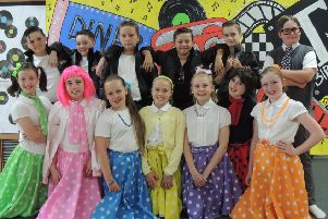 Hollywell or Hollywood? Some of the cast for 'Grease' at Hollywell Primary School in Kimberley.
