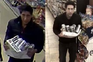 Schwimmer went viral when he made a comical video in response to accusations that he had been shoplifting in Blackpool.