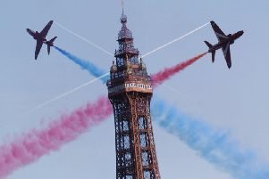 The Red Arrows performed at the Blackpool Air Show in 2006.