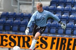 Jonathan Gould during his goalkeeping days at Preston North End