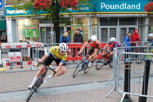 Dean Watson in action during the Newcastle-under-Lyme race.
