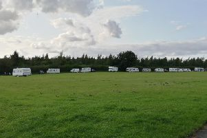 Travellers on site at Bellamy Road.