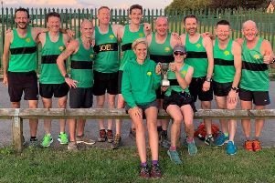 The Worksop Harriers' relay team that took part in the challenge match.