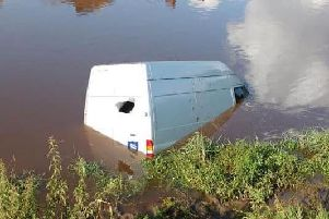 The white Ford Transit van was found in the River Ribble near London Road bridge, Walton-le-Dale on Tuesday morning (August 13)