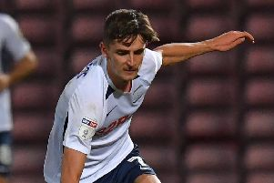 Tom Bayliss on his Preston North End debut against Bradford City
