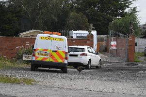 Police were at the caravan site on Monday morning
