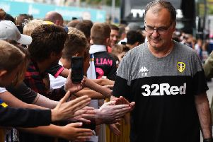 SPURRED ON: Head coach Marcelo Bielsa back with Leeds United's fans for a second season before the 1-1 draw at home to Nottingham Forest. Photo by George Wood/Getty Images.