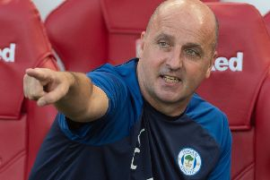 Wigan Athletic boss Paul Cook at Boro in midweek