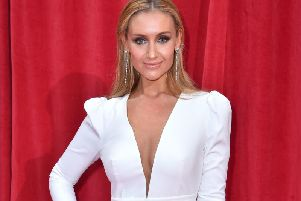 Catherine Tyldesley will appear on Strictly. Pic: Matt Crossick/PA Wire