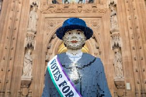 Life-sized Lego statue of suffragette Hope comes to South Ribble as part of its'National Tour