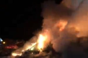 Fire takes hold at recycling plant in Preston overnight