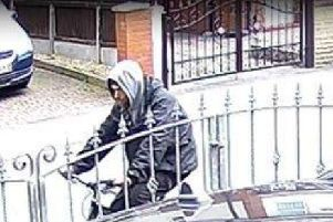 Police have now released CCTV of a male on a push bike they want to speak to.