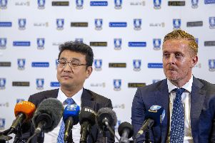 New Sheffield Wednesday manager Garry Monk (right), with chairman Dejphon Chansiri (left).