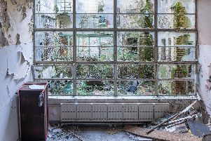 St Joseph's Orphanage in Preston in a state of ruin before the historic building is restored
