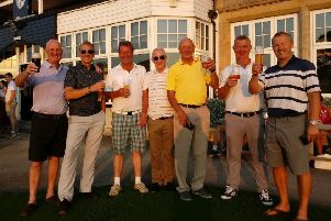 Chesterfield's winning team in the Sheffield Union of Golf Clubs' Foursomes Final, from left, Ian Goodwin, Dave Streets, Pete Howitt (captain), Tony McVeigh, Andy Norton, Tim Russell and Steve Brown.