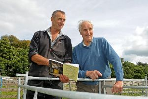 Trevor Stoney at Nidderdale showground in Pateley Bridge with his dad Joe.'Trevor is show manager and also this year president of Nidderdale Show. Picture Tony Johnson