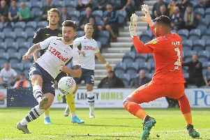 Sean Maguire scores for Preston against Brentford as PNE made it four straight wins at Deepdale