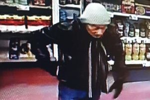 Police investigating the incident have released a CCTV image of a man they would like to speak to.
