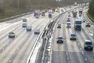 Highways have warned that they might have to shut some lanes on the M6 this morning to clear debris from the northbound carriageway between junctions 32 and 33