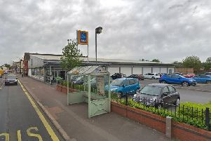 The current Aldi store on Towngate has similar signage to that proposed for the new outlet