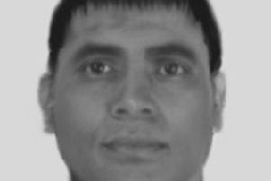 The Evo-fit image issued by police of a man they want to speak to after a man tried to get an 18-year-old woman into his car