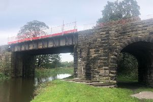 The railway bridge over the Leeds-Liverpool canal at Burscough  is to be repaired, leading to the rail line between Wigan and Southport to be closed for five days. Picture courtesy of Network Rail