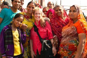 Elaine Cook, of South Shore, at the Kumbh Mela in India in 2013