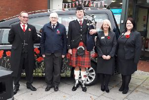 Staff at Co-op Bamber Bridge Funeral Care in Station Road raised a fantastic 212.42 for the Royal British Legion's Poppy Appeal at an open event marking Remembrance Day.
