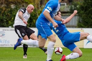 James Dean scores against Stalybridge Celtic
