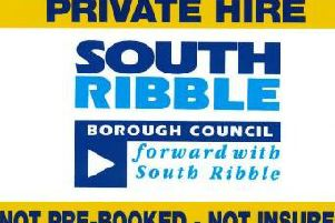 The proposed new sign to be displayed on private hire vehicles in South Ribble