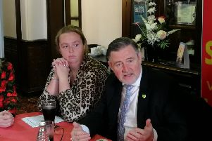 Kim Snape, Labour candidate for South Ribble, is joined by the party's shadow international trade secretary, Barry Gardiner, in Leyland