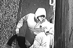 The two men forced their way into a home in Meadowcroft Road, Leyland at around 2.50am on Friday, December 13. Pic: Lancashire Police
