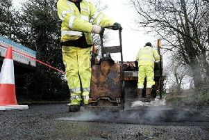 There are target times for pothole repair depending on their size and location