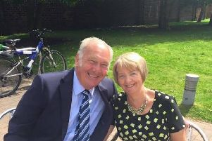 Alan Walker with his wife Barbara