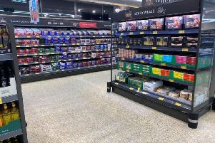 The new-look supermarket boasts new, easier to access fridges and freezers