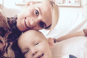 Nicola and son Joshua, who died aged five
