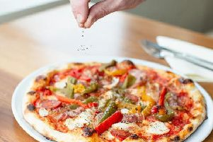 A pizza served by Angelo's in Preston.