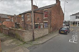 The rear of the properties on Chapel Brow in Leyland, which include the mosque