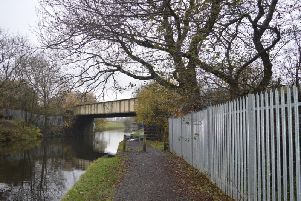 Rose Grove bridge in Burnley - over the Leeds-Liverpool Canal - is being strengthened, which will see a rail line through East Lancashire closed for nine days. Picture: Network Rail